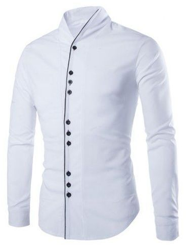 BUTTON STYLE CASUAL WHITE SHIRT