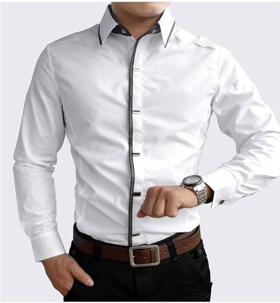 SEMI OFFICIAL WHITE CASUAL SHIRT