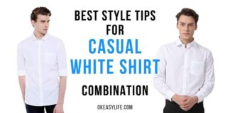 casual white shirts