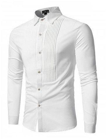 CHEST PATTERN WHITE SHIRT