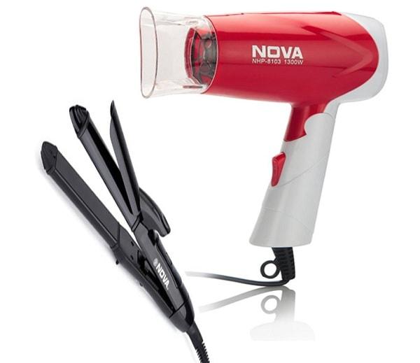 Nova Freshers Pack NHC 810 and NHP 8103 Foldable Hair Dryer