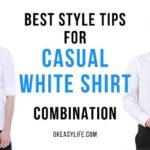 casual white shirts