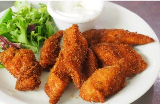 Fried Chicken Fingers with Panko Bread Crumbs